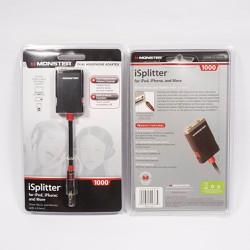 Cáp chia 2 tai phone chính hãng Monster iSpitter nhập USA