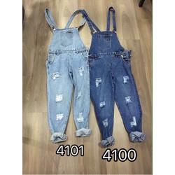 Quần Yếm Jeans Cao Cấp- 2 Màu Y Hình