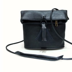 Túi xách da đeo chéo nắp gập