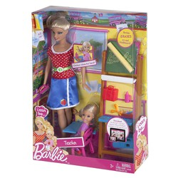 Búp bê Barbie Lớp học chị em Barbie W3745 Teacher