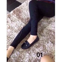 QUẦN THUN LEGGING ĐẮP REN