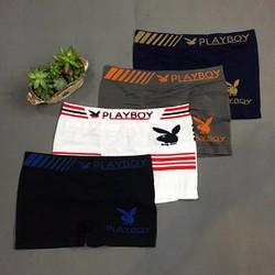 Boxer Freesize PLAYBOY, quần lót dệt kim, thun 4 chiều cao cấp