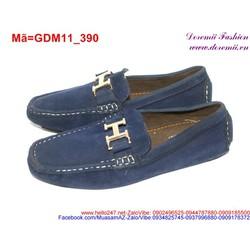 Giày mọi da nam phối tag chữ H trẻ truung sành điệu GDM11