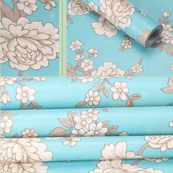 Decal giấy dán tường hoa cúc xanh