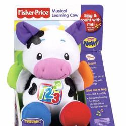 Thú bông con bò biết hát và nói Fisher Price