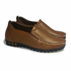 Giày tăng chiều cao nam da thật S65 nâu, cao 5cm