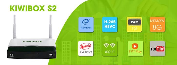 Android TV Box Kiwi S2 chính hãng. 1
