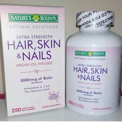 Đẹp da móng tóc Natures Bounty Hair Skin  Nails 250 viên
