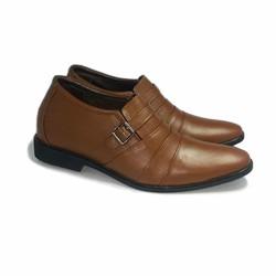 Giày tăng chiều cao nam da thật TT 17 nâu cao 6cm