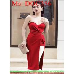 Đầm body cúp ngực và xẻ đùi sành điệu màu đỏ sang trọng DOC356 View