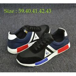 Giày sneak giá rẻ xanh đen
