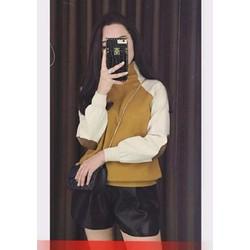 Áo len 2 màu tay pha da trẻ trung cá tính