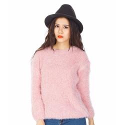 Áo len nữ lông xù thời trang