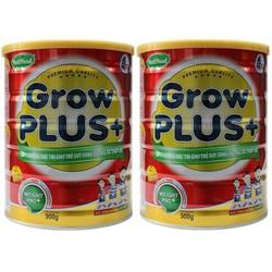 Bộ 2 sữa bột Nutifood Grow Plus cho trẻ suy dinh dưỡng 900g