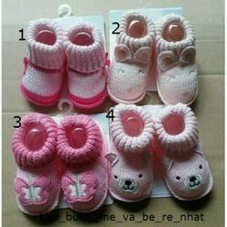 Giày len trẻ sơ sinh size chân 7-8cm