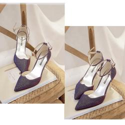 Giày cao gót mũi nhọn ánh kim quý phái