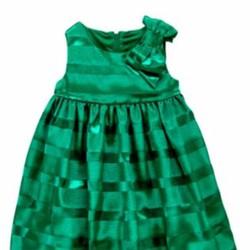 Áo đầm Gymboree màu xanh có nơ rất đẹp
