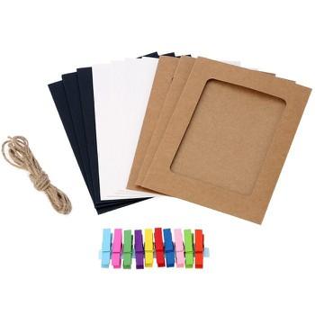 Bộ khung ảnh giấy treo tường 6 inch 3 màu