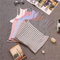 áo len yếm sọc ngang nhiều màu- qc