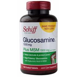 Schiff Glucosamine 1500mg plus MSM 1500mg chai 150 viên từ Mỹ