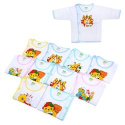 bộ 10 áo sơ sinh tay dài cho bé Akio