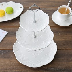 Cake Stand Sứ Tròn 3 Tầng