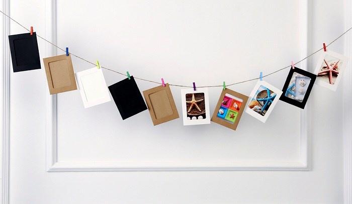 Bộ khung ảnh giấy treo tường 6 inch 3 màu 4