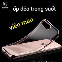 Ốp Lưng dẻo viền màu Baseus Shining dành cho Iphone 7