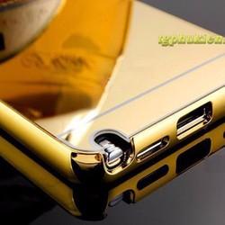 Ốp lưng nhôm nguyên khối Galaxy Note 4 tráng gương