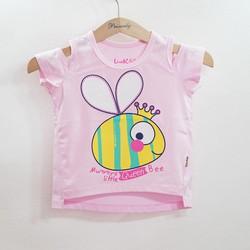 Áo thun rớt vai lệch tà in ong vàng xinh xắn