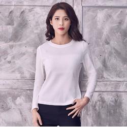 Áo len cổ tròn vân sọc thời trang cao cấp 2017 - #10400