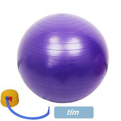 Bóng tập Yoga-Gym trơn 75 cm- Tặng kèm bơm
