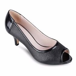 Giày Cao Gót Hở Mũi ánh kim CT02