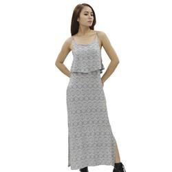 Đầm maxi xẻ tà ZIGZAG cao cấp