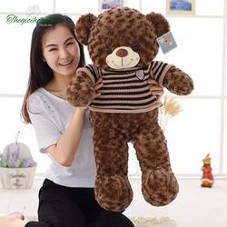 Gấu bông teddy áo len 80cm
