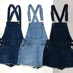 Váy yếm quần Demin chất jean mềm dày dặn co giãn tốt