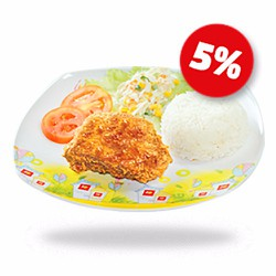 LOTTERIA SOY BEAN CHICKEN RICE_LOTTE