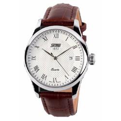 Đồng hồ cao cấp nam  SKMEI SK005 dây da cổ điển chống nước