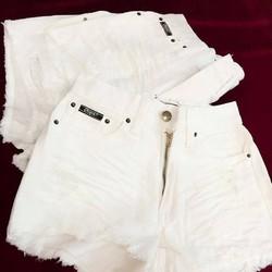 Quần sort jean trắng