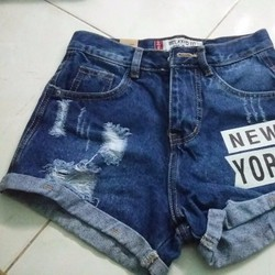 Quần short jean new york