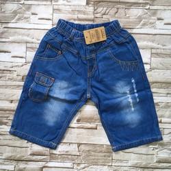 qt32[24-34kg] Quần lửng jeans mềm túi nhỏ
