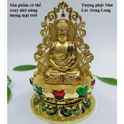 Tượng Phật trên xe ô tô Như Lai Song Long