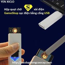 Hộp quẹt chữ S xài điện GamoShop sạc điện bằng cổng USB