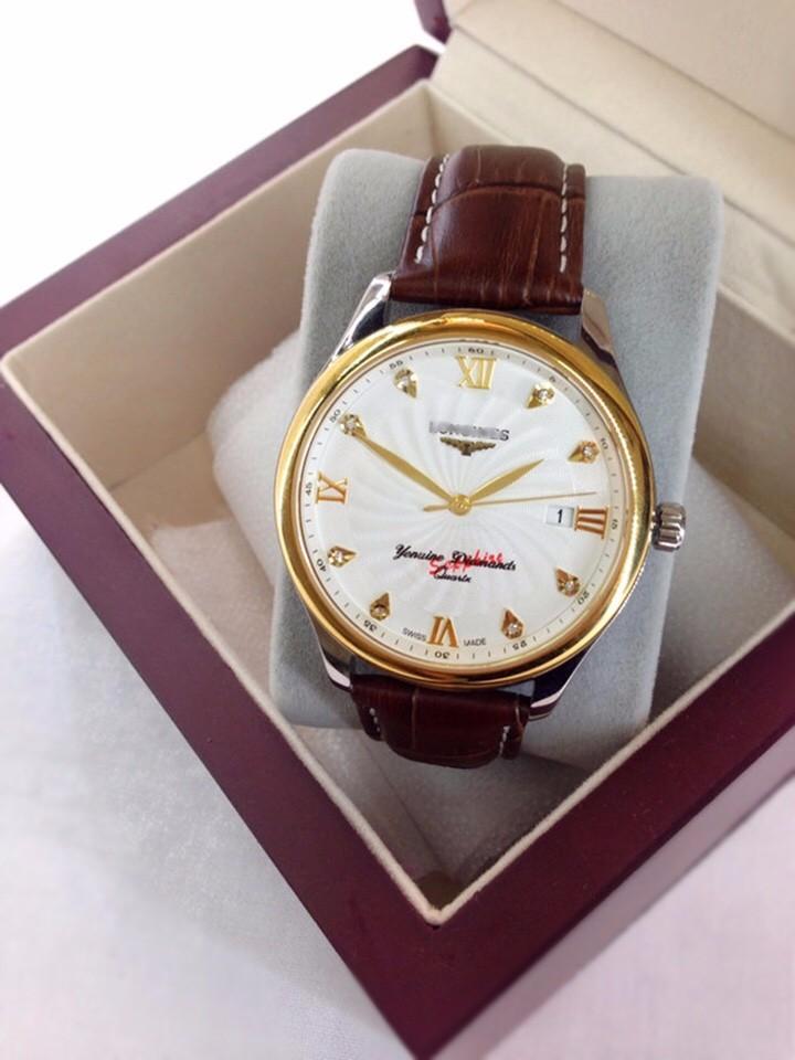 đồng hồ kim dây da thật kính tinh thể sapphire mã LG.103 6