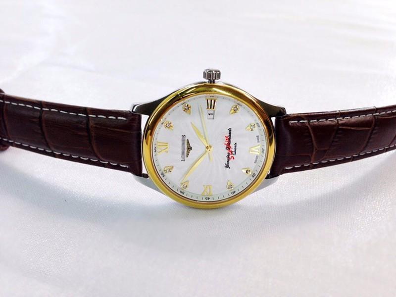 đồng hồ kim dây da thật kính tinh thể sapphire mã LG.103 4
