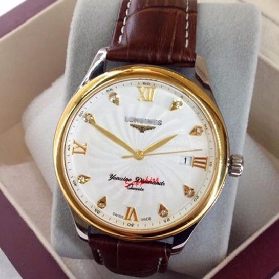 đồng hồ kim dây da thật kính tinh thể sapphire mã LG.103 2