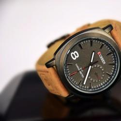 Đồng hồ cao cấp CURREN dây nâu chống nước CR001