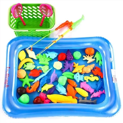 Bộ đồ chơi câu cá kèm phao và bơm