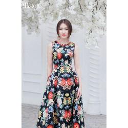 Đầm dạ hội gấm hoa