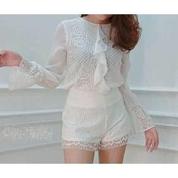 Set áo + quần short ren